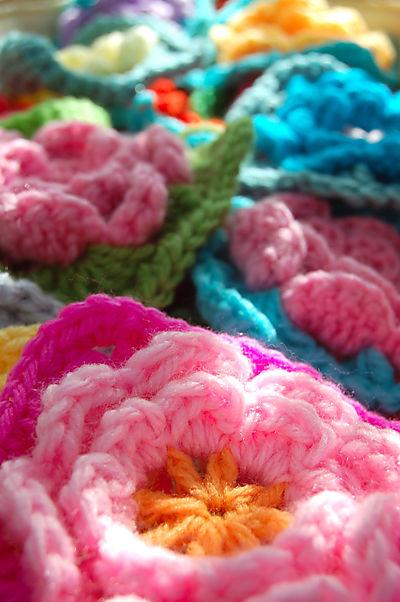 Crochet rose squares 1 020
