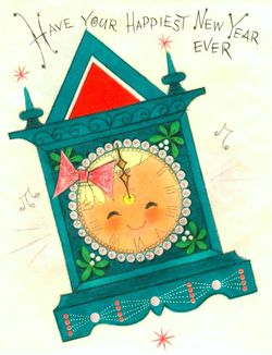 Vintage new year card2