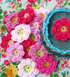 Free Crochet Pattern - Grandmother's Flower Garden Afghan from the